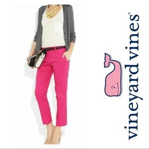 Fuchsia Pink Vineyard Vines Cropped Pants
